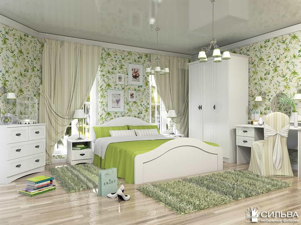 Набор мебели «Прованс» со шкафом Белый